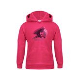 Youth Raspberry Fleece Hood-Buccaneer Head Foil