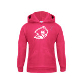 Youth Raspberry Fleece Hood-Kay Yow Breast Cancer Fund Ribbon