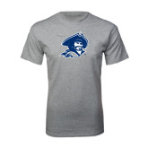 Grey T Shirt-Buccaneer Head Distressed