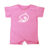 Bubble Gum Pink Infant Romper-Buccaneer Head