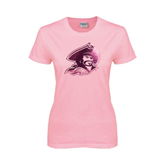 Ladies Pink T-Shirt-Buccaneer Head Foil