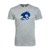 Next Level SoftStyle Heather Grey T Shirt-Buccaneer Head