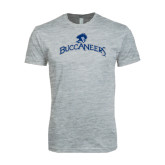Next Level SoftStyle Heather Grey T Shirt-Arched Buccaneers