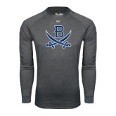 Under Armour Carbon Heather Long Sleeve Tech Tee-B w/Swords