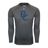 Under Armour Carbon Heather Long Sleeve Tech Tee-Interlocking BC