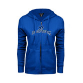 ENZA Ladies Royal Fleece Full Zip Hoodie-Arched Buccaneers