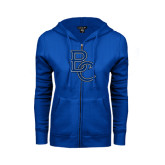 ENZA Ladies Royal Fleece Full Zip Hoodie-Interlocking BC