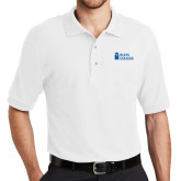 White Easycare Pique Polo-Blinn Institutional
