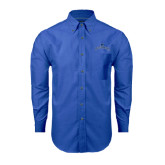 Mens Royal Oxford Long Sleeve Shirt-Arched Buccaneers