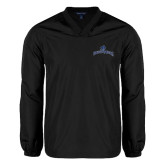 V Neck Black Raglan Windshirt-Arched Buccaneers