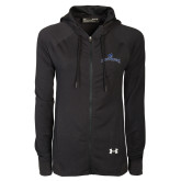 Ladies Under Armour Black Varsity Full Zip Hoodie-Arched Buccaneers