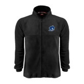 Fleece Full Zip Black Jacket-Buccaneer Head