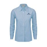 Ladies Light Blue Oxford Shirt-Arched Buccaneers