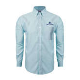 Mens Light Blue Oxford Long Sleeve Shirt-Arched Buccaneers