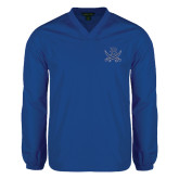 V Neck Royal Raglan Windshirt-B w/Swords
