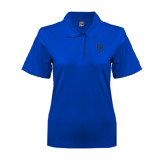 Ladies Easycare Royal Pique Polo-Interlocking BC