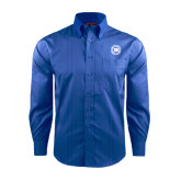 Red House French Blue Dobby Long Sleeve Shirt-Alumni Lettermen Association