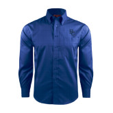 Red House French Blue Long Sleeve Shirt-Interlocking BC