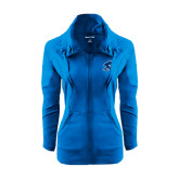 Ladies Sport Wick Stretch Full Zip Sapphire Jacket-Buccaneer Head