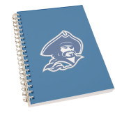 Clear 7 x 10 Spiral Journal Notebook-Buccaneer Head