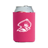 Collapsible Hot Pink Can Holder-Buccaneer Head