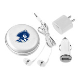 3 in 1 White Audio Travel Kit-Buccaneer Head