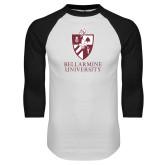 White/Black Raglan Baseball T-Shirt-Bellarmine University Logo