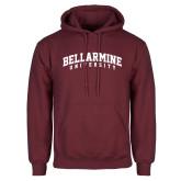 Maroon Fleece Hoodie-Arched Bellarmine University