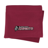 Maroon Sweatshirt Blanket-Official Logo Flat