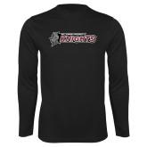 Performance Black Longsleeve Shirt-Official Logo Flat