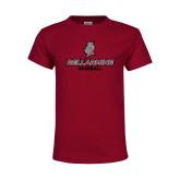 Youth Maroon T Shirt-Baseball
