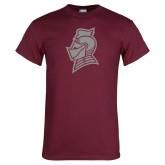 Maroon T Shirt-Knight Head