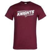 Maroon T Shirt-Slanted Knights w/ Logo