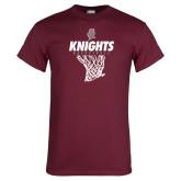 Maroon T Shirt-Knights Basketball Hanging Net