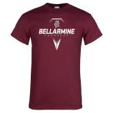 Maroon T Shirt-Bellarmine Lacrosse Geometric