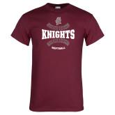 Maroon T Shirt-Knights Softball Seams