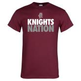 Maroon T Shirt-Knights Nation