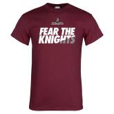 Maroon T Shirt-Fear The Knights