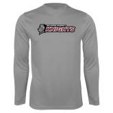 Performance Steel Longsleeve Shirt-Official Logo Flat