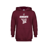 Youth Maroon Fleece Hoodie-Knights Basketball Hanging Net