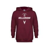 Youth Maroon Fleece Hoodie-Bellarmine Lacrosse Geometric