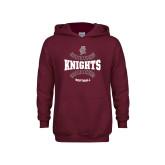 Youth Maroon Fleece Hoodie-Knights Softball Seams