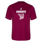 Performance Maroon Tee-Knights Basketball Hanging Net
