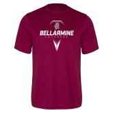 Performance Maroon Tee-Bellarmine Lacrosse Geometric