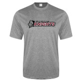 Performance Grey Heather Contender Tee-Official Logo Flat