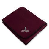 Maroon Arctic Fleece Blanket-Official Logo