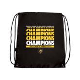 Black Drawstring Backpack-Mens Basketball Champions Stacked