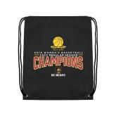 Black Drawstring Backpack-2018 Womens Regular Season Basketball Champions