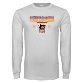 White Long Sleeve T Shirt-2018 Mens Regular Season Basketball Champions