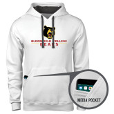 Contemporary Sofspun White Hoodie-Bloomfield College Bears Stacked